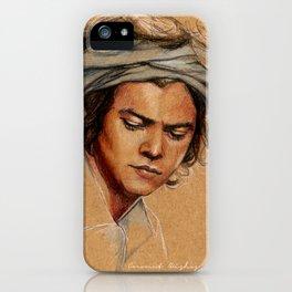 H tan paper iPhone Case