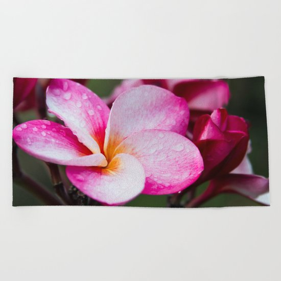 Pua Melia Floral Celebration Beach Towel