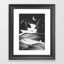 Moon, Boy & The Whale Framed Art Print