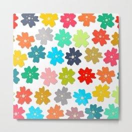 pop flowers bbw Metal Print