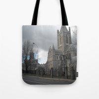 dublin Tote Bags featuring Dublin by Ganeswar Sahoo