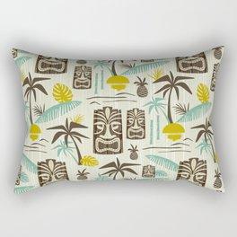 Island Tiki - Tan Rectangular Pillow