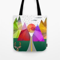 merry christmas Tote Bags featuring merry Christmas by mark ashkenazi