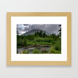 Alaskan Summer Rain Clouds, Kenai_Peninsula Framed Art Print