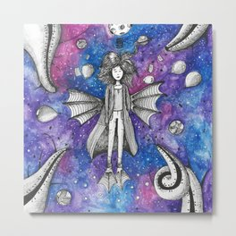 Woman from the galaxy Metal Print