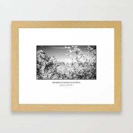 Springtime in Grabow Framed Art Print
