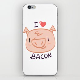 I Love Bacon iPhone Skin