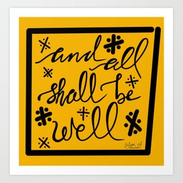 And All Shall Be Well Julian of Norwich Art Print
