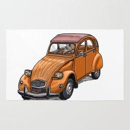 Orange 2CV Rug
