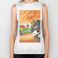 agents of shield Biker Tanks featuring CIA Agents! by Moshik Gulst