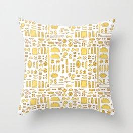 Pasta, a pattern. Throw Pillow