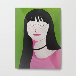 Watermelon Girl Metal Print
