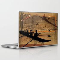 rowing Laptop & iPad Skins featuring Rowing by Robin Curtiss