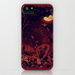 Night at the Origami Garden iPhone Case