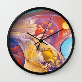 Winged color Wall Clock
