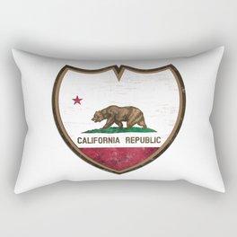 California Flag -Shield Rectangular Pillow