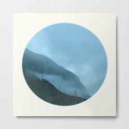 Blue Misty Mountains Metal Print