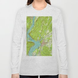 Vintage Map of Peekskill New York (1947) Long Sleeve T-shirt