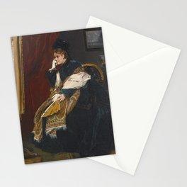 ALFRED STEVENS BELGIAN 1823 - 1906 WOMEN IN GREEN IN THE WORKSHOP Stationery Cards