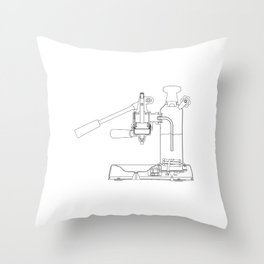 La Pavoni Lever Espresso Machine Throw Pillow