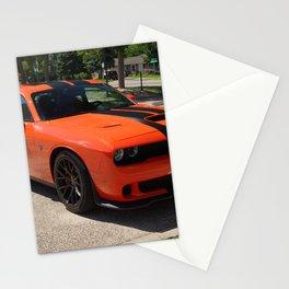 Hugger Orange Challenger SRT Hellcat color photograph / photography / Greg Gjerdingen Stationery Cards