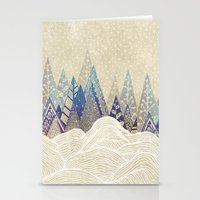 dreams Stationery Cards featuring Snowy Dreams  by rskinner1122
