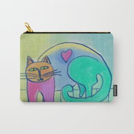 Loveable Cat Abstract Digital Painting  Carry-All Pouch