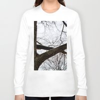 wooden Long Sleeve T-shirts featuring Wooden Crossing by Julie Maxwell