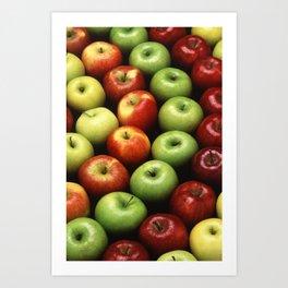 Various Types of Apples Art Print
