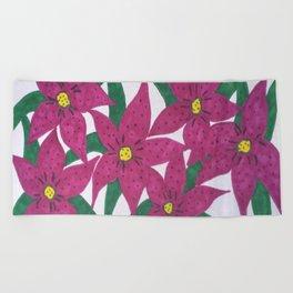 Ultra Violet Lily Bouquet Beach Towel