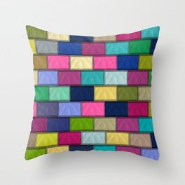Colourful Mosaics Throw Pillow