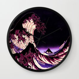The Great WAVE Eggplant Purple Wall Clock