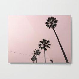 Palm Trees, Santa Monica California Metal Print