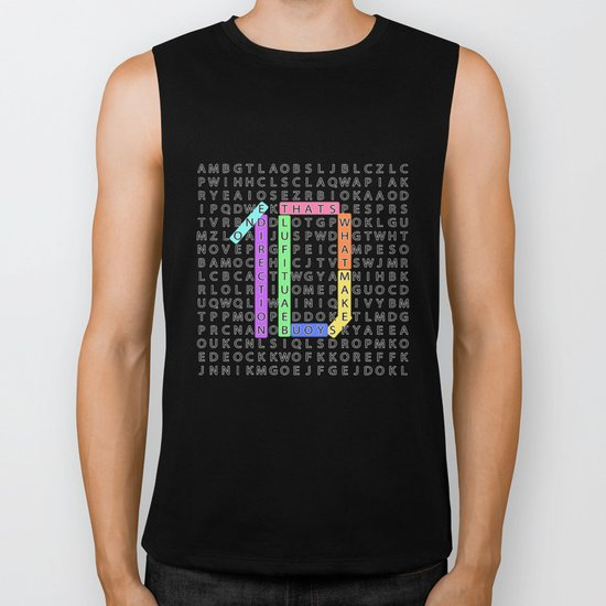 Wordsearch LOVE:  What Makes You Beautiful Biker Tank