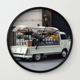 Flower Truck Wall Clock