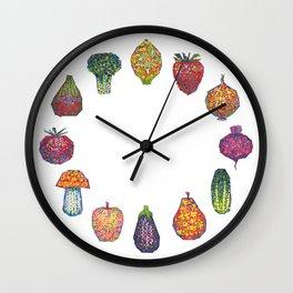 Vitamins - white Wall Clock