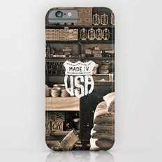 Brown White Made In USA Vintage Photography Print Slim Case iPhone 6s