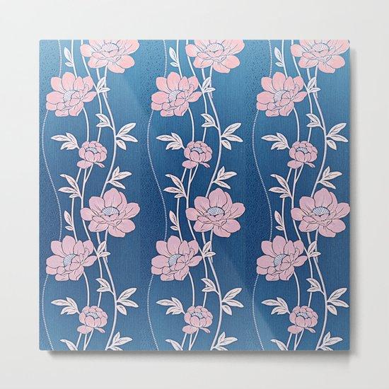 Rose Quartz Flower Garlands Metal Print