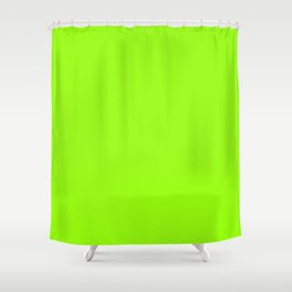 Electric Lime Shower Curtain