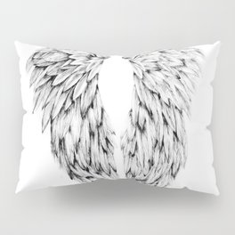 Black and White Angel Wings Pillow Sham