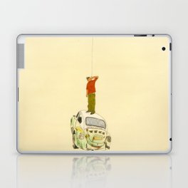 man listening something from the sky Laptop & iPad Skin