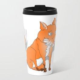 Happy Cartoon Fox Travel Mug