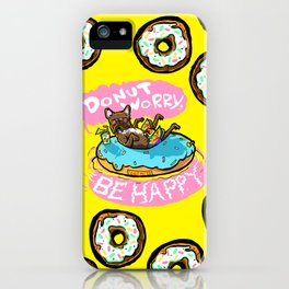 Happy Swimming Terrier Donut Matter iPhone Case