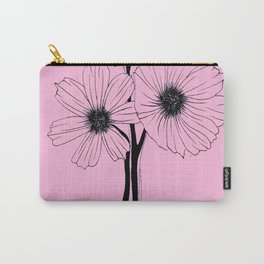 """""""GORGEOUS TRIO"""" Line Illustration Carry-All Pouch"""