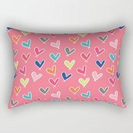 Blow Me One Last Kiss - Pink Rectangular Pillow