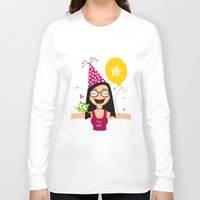 birthday Long Sleeve T-shirts featuring Birthday by Zurecia