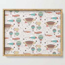 Dirigible Colorful Pattern Serving Tray