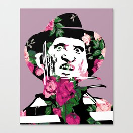 Floral Freddy Canvas Print