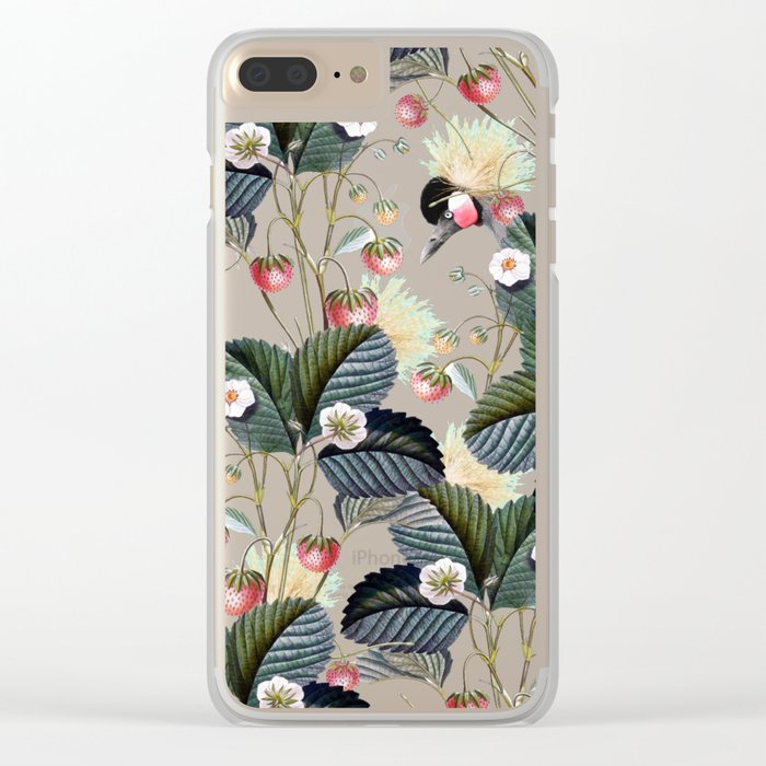 Strawberry Brush Hide-Out #society6 #decor #buyart Clear iPhone Case