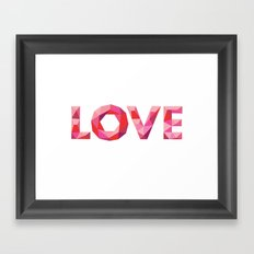 Red Faceted Love Framed Art Print